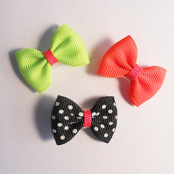 Infant Neon Ribbon Hair Bows #1: neon hair bow 1314