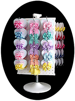 babybows.com hair bows on display