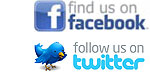 find us on facebook; follow us on twitter