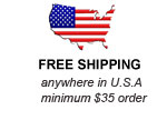 Free Shipping anywhere is U.S.A. -- minimum $35 order
